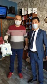 Merzifon belediyesinden  berber ve kuaförlere destek
