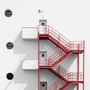 Pansiyon binasına Z tipi yangın merdiveni yaptırılacak