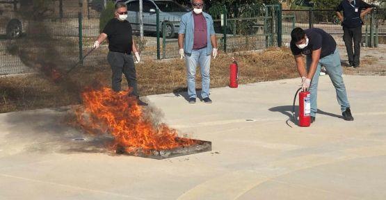 Yangın tatbikatı yapıldı.